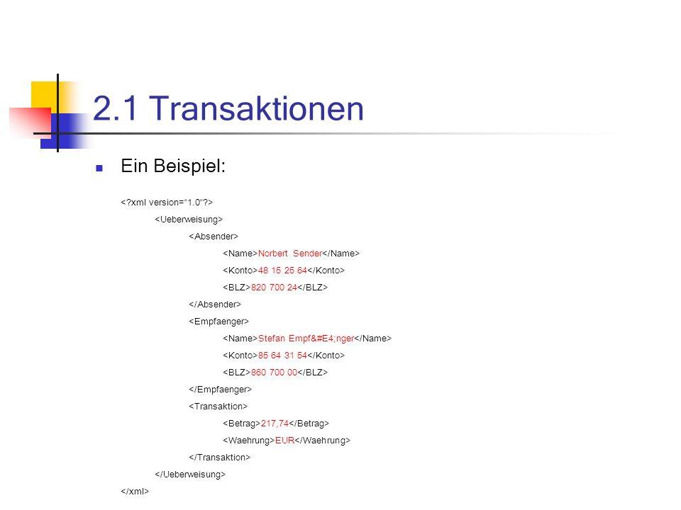 2.2 Stücklisten und Kataloge Austausch über EDI-Technologie zu langsam und kompliziert in XML-Dokumenten beschrieben versendet und ausgetauscht Transformation in eigene Formate Einbindung in DB oder Anwendung