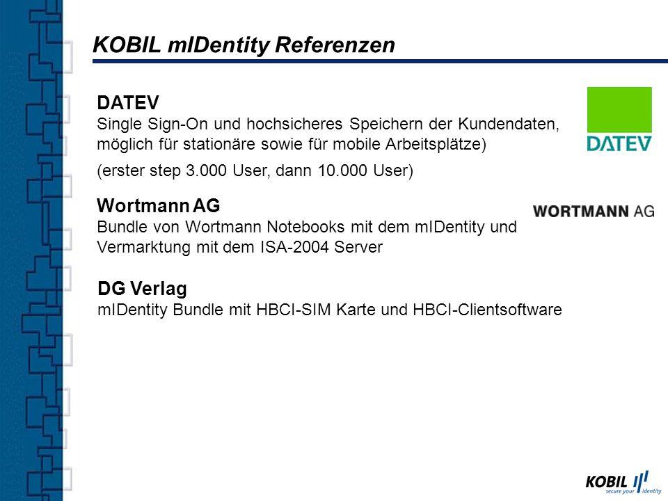 KOBIL mIDentity Referenzen DATEV Single Sign-On und hochsicheres Speichern der Kundendaten, möglich für stationäre sowie für mobile Arbeitsplätze) (er