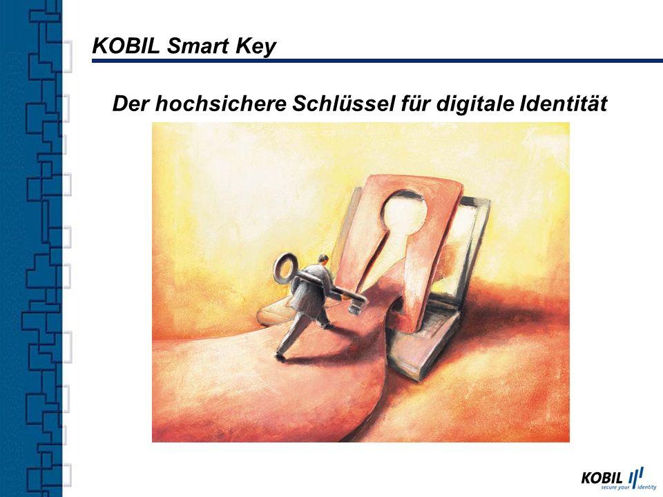 Komponenten KOBIL Smart Card Terminals Smart Card TCOS oder CardOS (E4/hoch-evaluiert) Software KOBIL Smart Key (PKI Client Software) KOBIL Smart Key