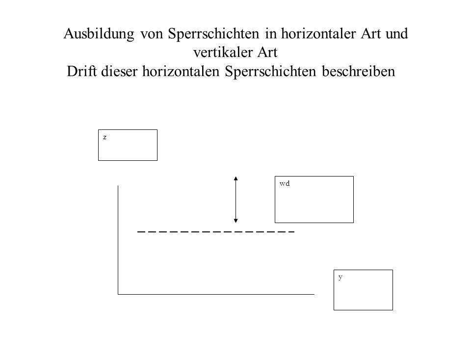 Ausbildung von Sperrschichten in horizontaler Art und vertikaler Art Drift dieser horizontalen Sperrschichten beschreiben z y wd