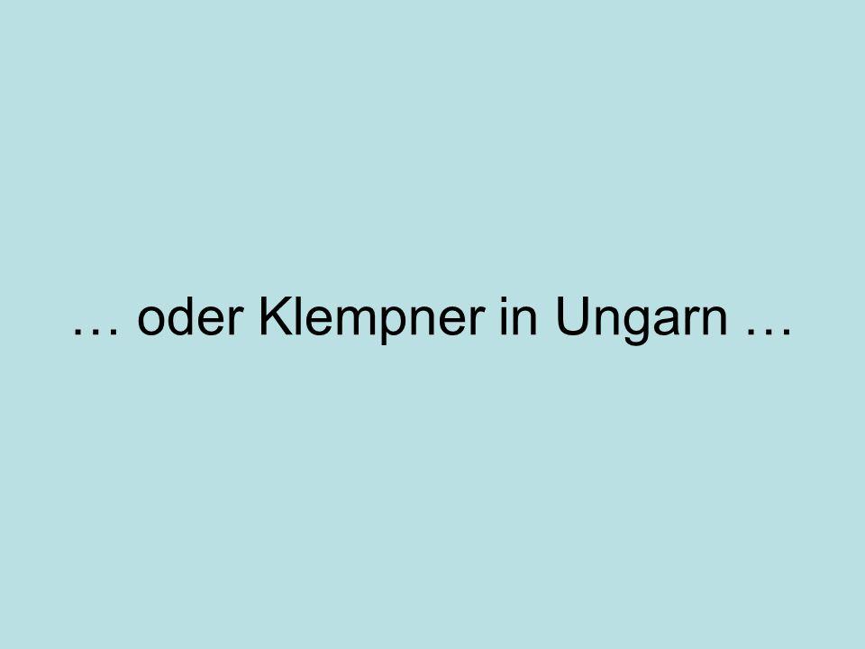 … oder Klempner in Ungarn …