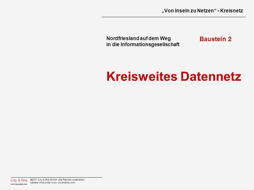 2001 City & Bits GmbH, alle Rechte vorbehalten, Nähere Infos unter www.cityandbits.com Von Inseln zu Netzen - Kreisnetz Nordfriesland auf dem Weg in d