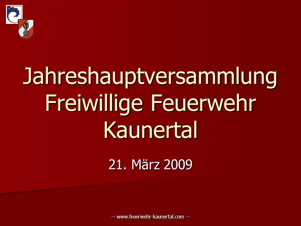 -- www.feuerwehr-kaunertal.com -- Jahreshauptversammlung Freiwillige Feuerwehr Kaunertal 21. März 2009