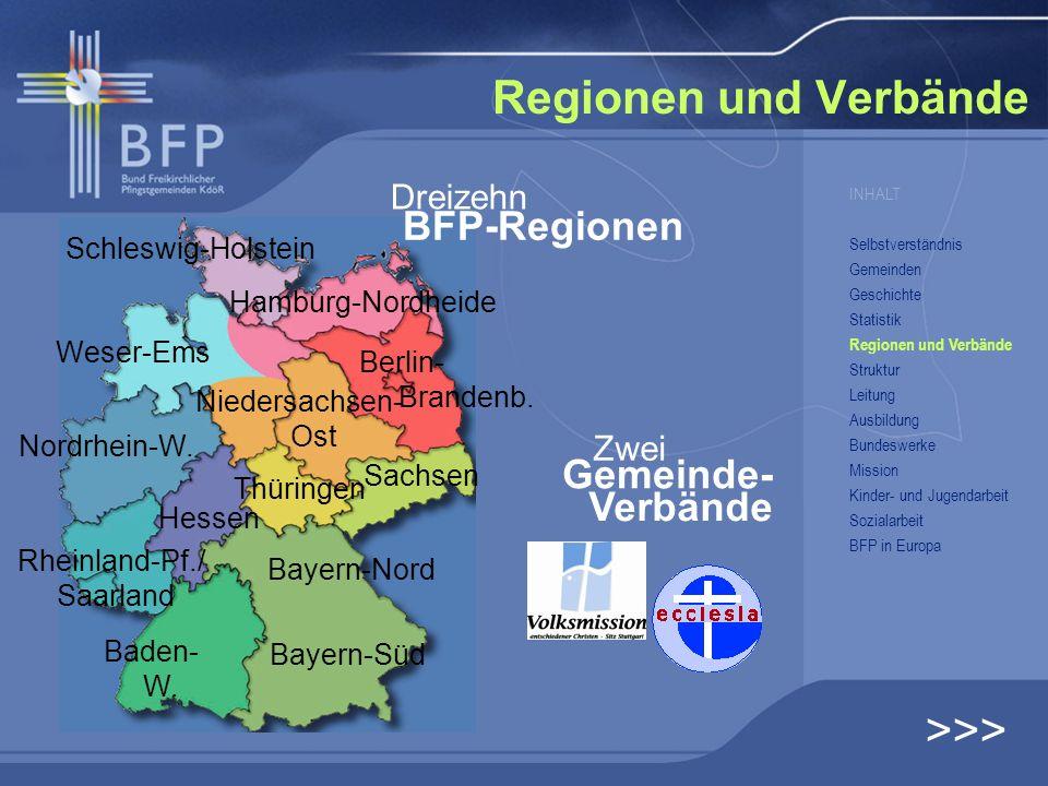 Regionen und Verbände >>> Schleswig-Holstein Weser-Ems Hamburg-Nordheide Nordrhein-W. Berlin- Brandenb. Niedersachsen- Ost Sachsen Hessen Bayern-Nord