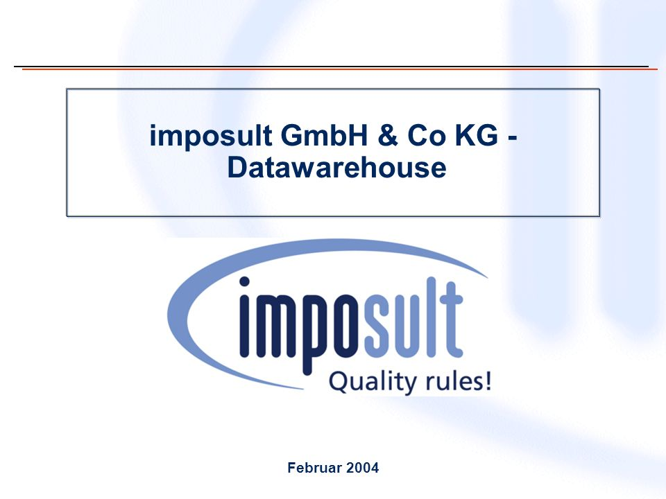 imposult GmbH & Co KG - Datawarehouse Februar 2004