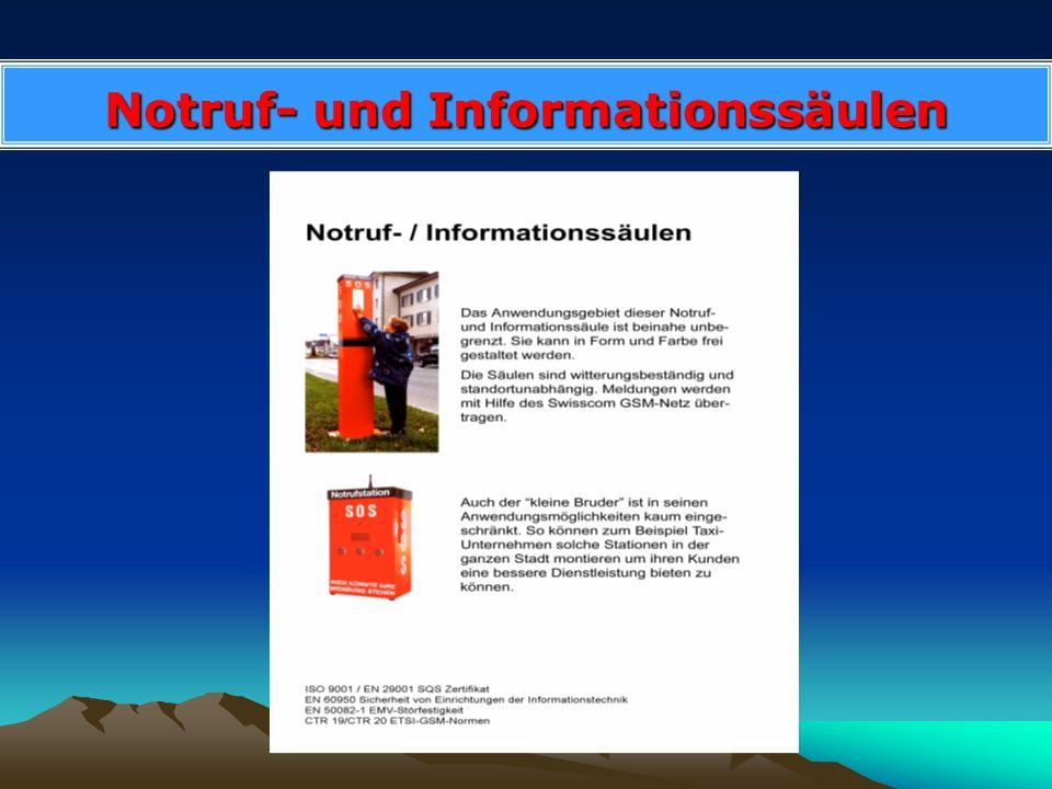 Notruf- und Informationssäulen