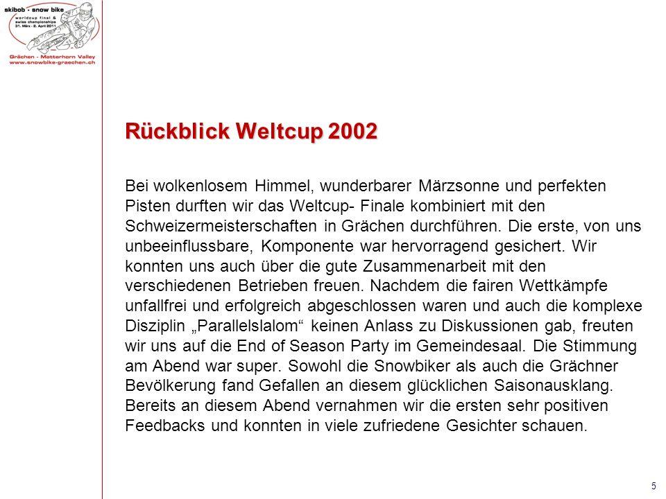 Rückblick Weltcup 2002 Bei wolkenlosem Himmel, wunderbarer Märzsonne und perfekten Pisten durften wir das Weltcup- Finale kombiniert mit den Schweizer