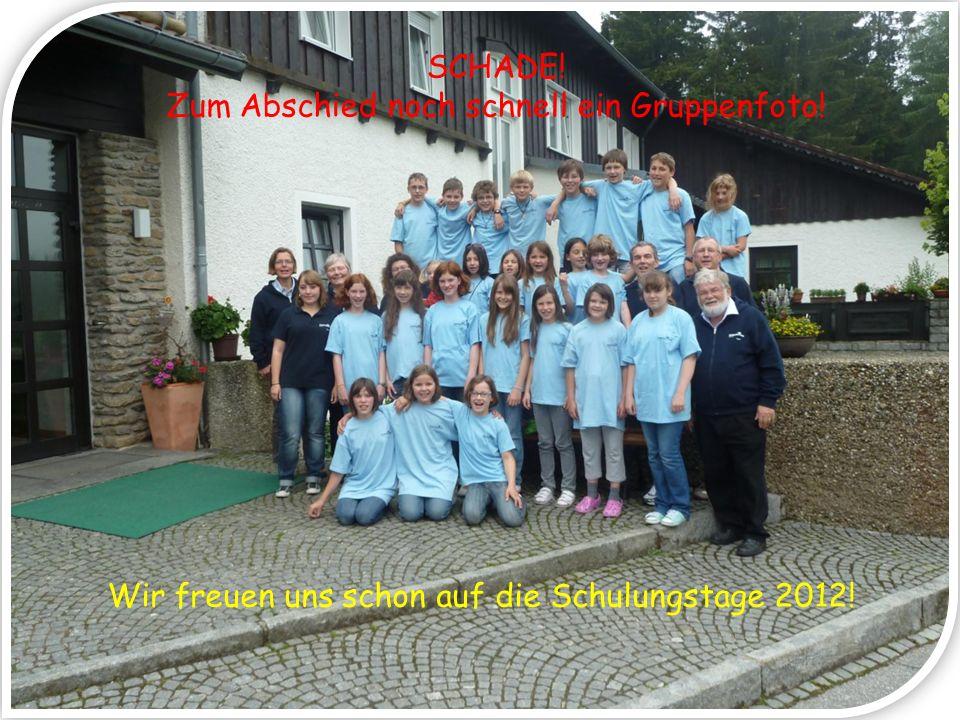 SCHADE! Zum Abschied noch schnell ein Gruppenfoto! Wir freuen uns schon auf die Schulungstage 2012!