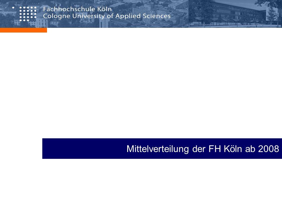 Mittelverteilung der FH Köln ab 2008