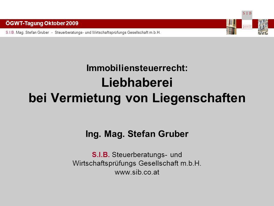 ÖGWT-Tagung Oktober 2009 S.I.B. Mag.