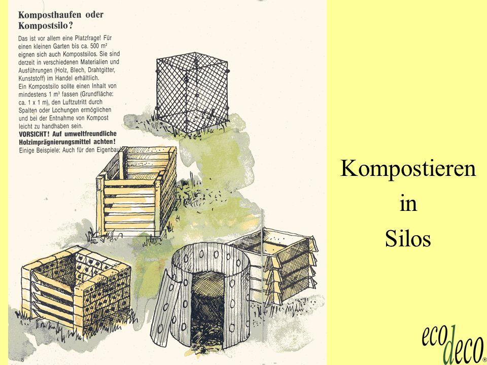 Kompost 4 Mieten-Kompostierung
