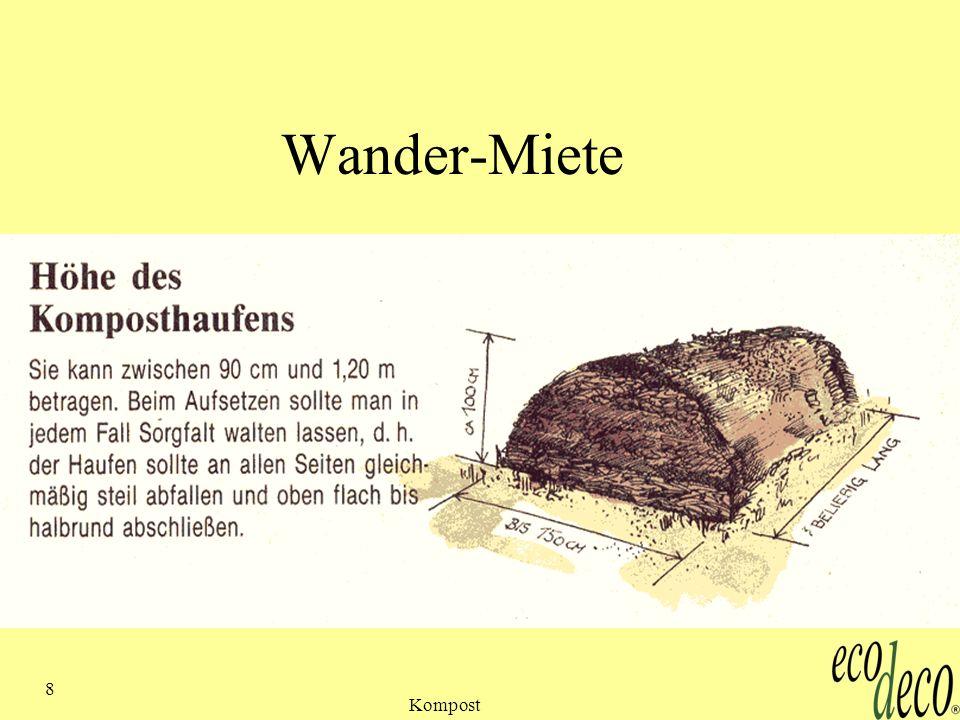 Kompost 8 Wander-Miete
