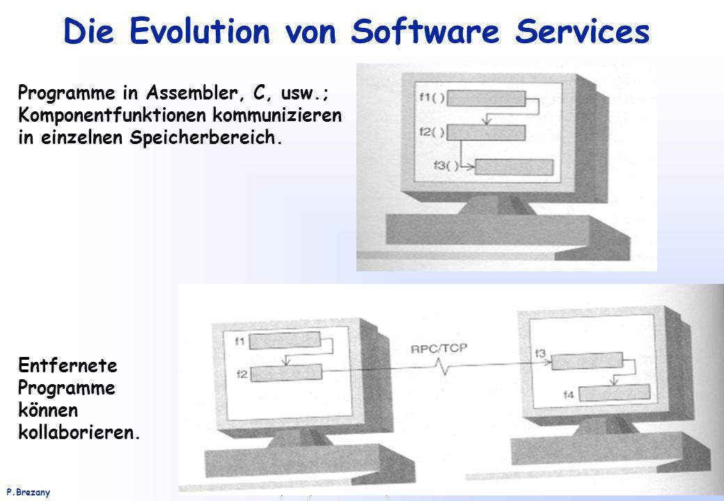 Institut für Softwarewissenschaft - Universität WienP.Brezany 29 Die Evolution von Software Services Programme in Assembler, C, usw.; Komponentfunktio