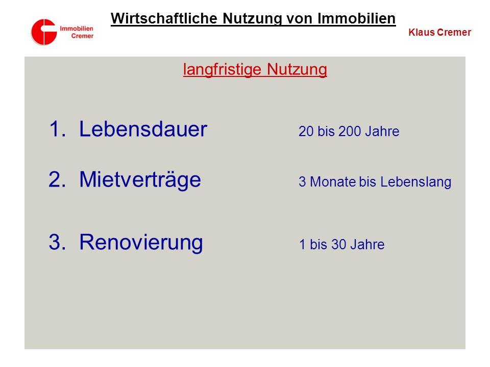 6. Beispiel Klaus Cremer Wirtschaftliche Nutzung von Immobilien