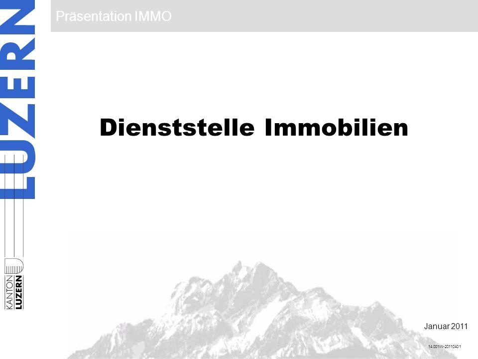 Präsentation IMMO 1 Dienststelle Immobilien 14.001W-20110401 Januar 2011