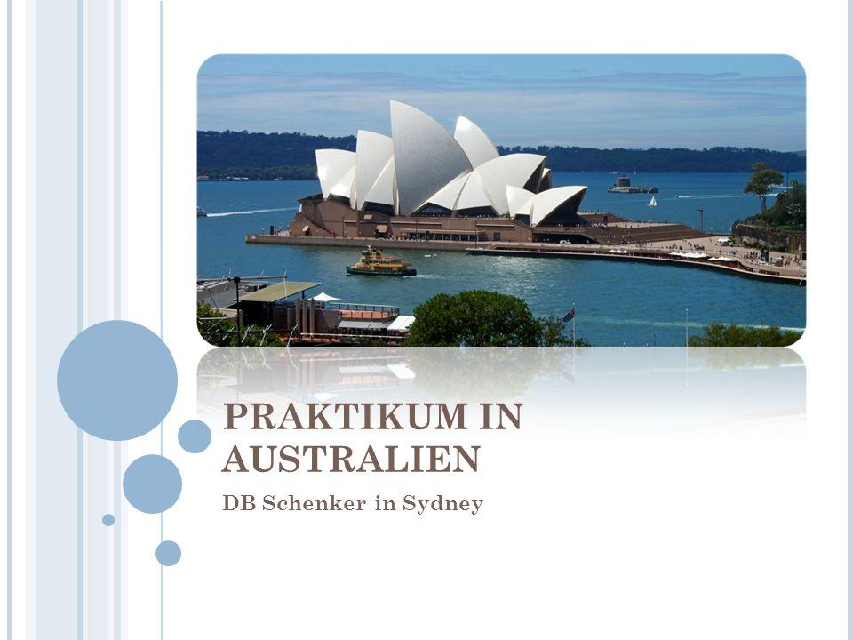 PRAKTIKUM IN AUSTRALIEN DB Schenker in Sydney