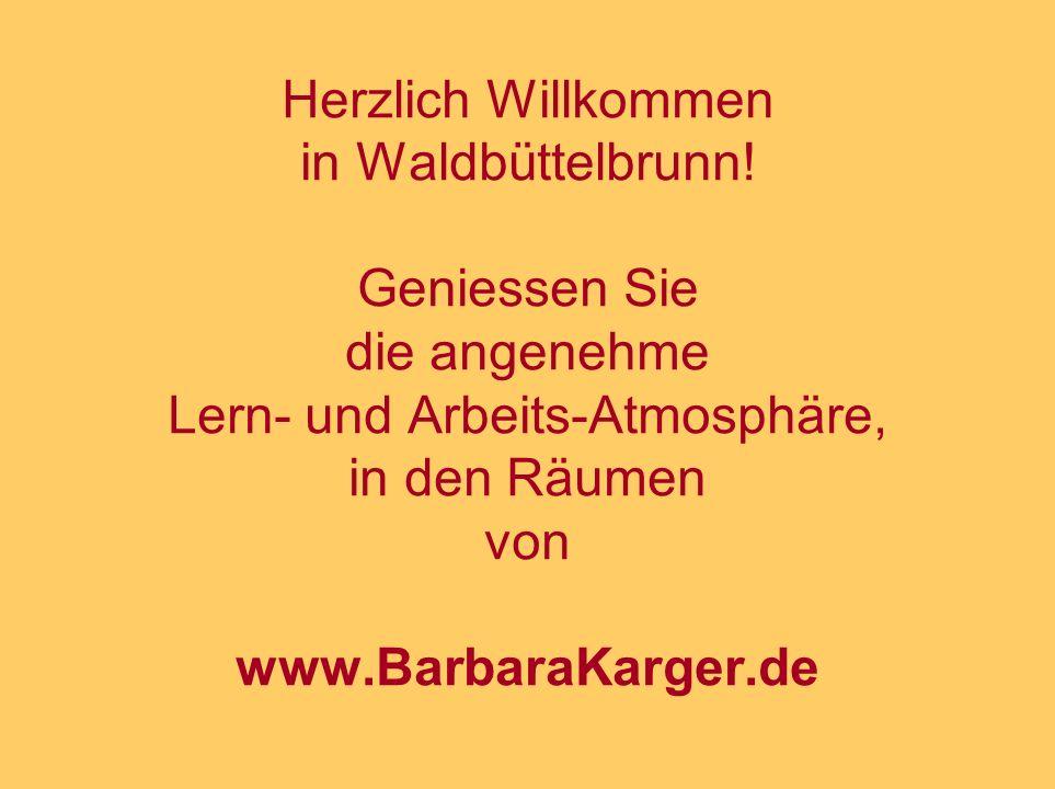 Herzlich Willkommen in Waldbüttelbrunn.