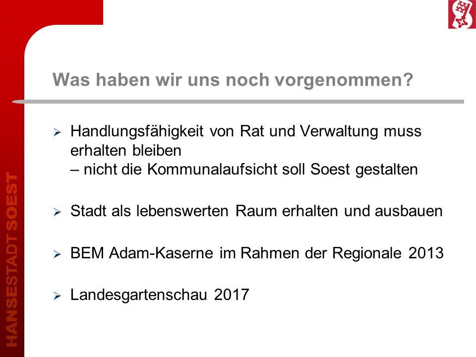 Deckungsbeiträge Beteiligung20122013 Fehlbetrag (mindestens)6.300.000 3.450.000 Beteiligungen (Stadtwerke, KBS etc.) 4.450.000 1.650.000 Beitrag der Kernverwaltung (mindestens) 1.850.000 1.800.000