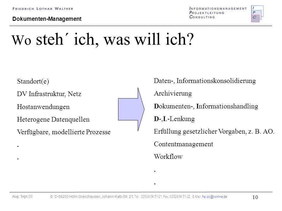 Aug./Sept.00 © D-56203 Höhr-Grenzhausen, Johann-Kalb-Str. 21, Tel.: 02624/94 51-21, Fax: 02624/94 51-22, E-Mail: flw.ipc@t-online.de 10 Dokumenten-Man