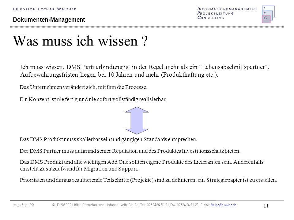 Aug./Sept.00 © D-56203 Höhr-Grenzhausen, Johann-Kalb-Str. 21, Tel.: 02624/94 51-21, Fax: 02624/94 51-22, E-Mail: flw.ipc@t-online.de 11 Dokumenten-Man