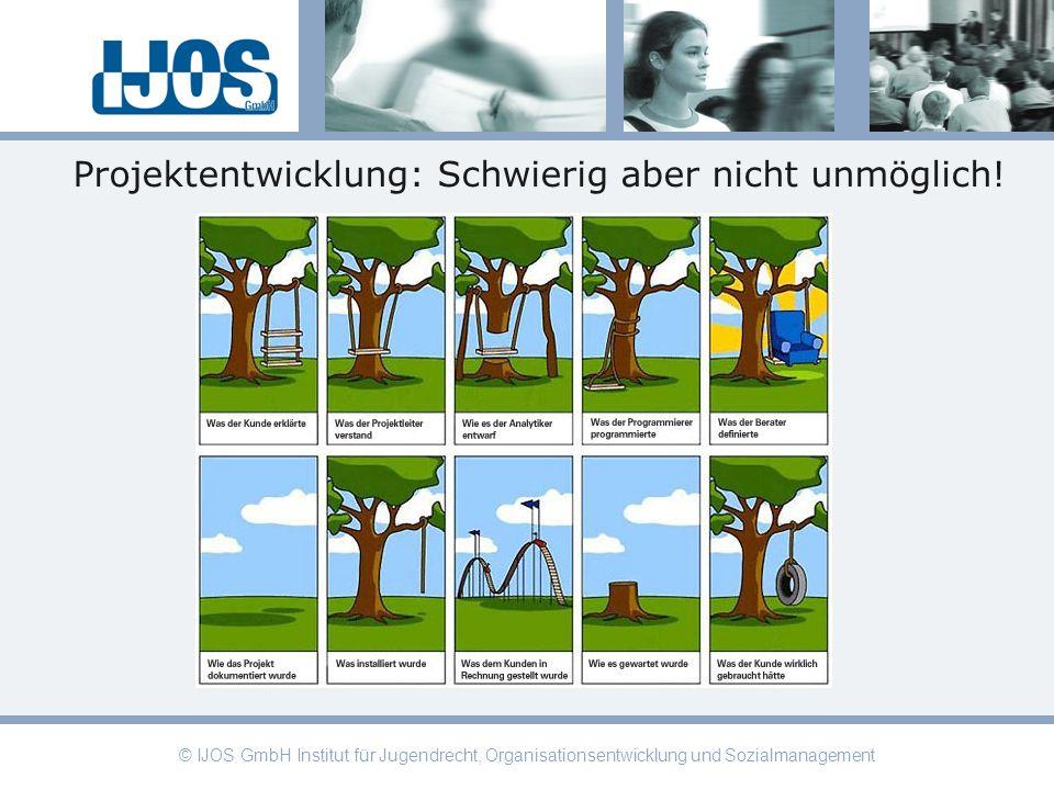 © IJOS GmbH Institut für Jugendrecht, Organisationsentwicklung und Sozialmanagement Projektentwicklung: Schwierig aber nicht unmöglich!