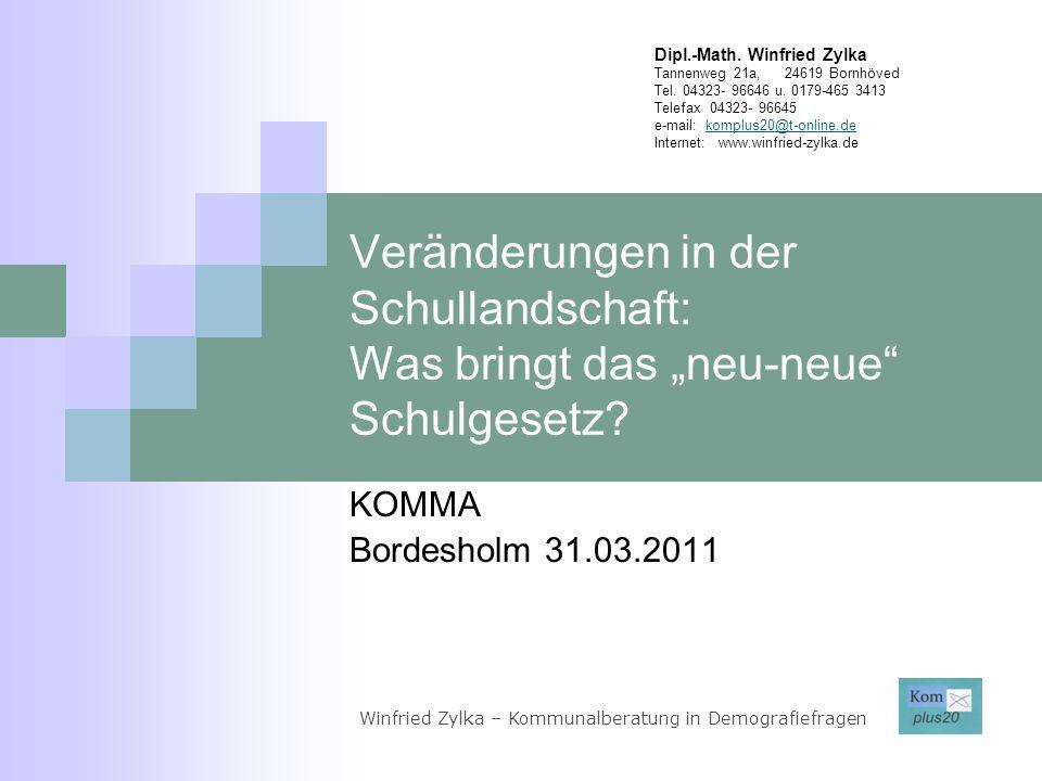 Demografische Situation in Hamburg und Schleswig-Holstein Winfried Zylka – Kommunalberatung in Demografiefragen Quelle: Statistisches Amt für Hamburg und Schleswig-Holstein