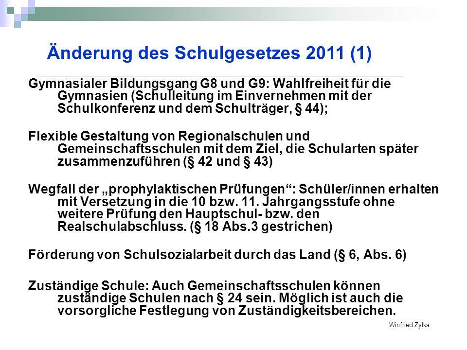 Gymnasialer Bildungsgang G8 und G9: Wahlfreiheit für die Gymnasien (Schulleitung im Einvernehmen mit der Schulkonferenz und dem Schulträger, § 44); Fl