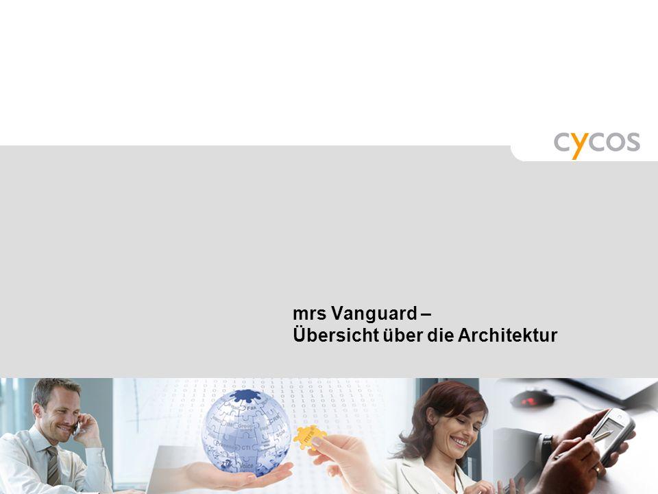 Kurztitel mrs Vanguard_Präsentation © cycos AG, 2008 51 Neuheiten: Verbesserte Nutzbarkeit Web Assistant Benutzeroberfläche für Nutzer, die nur mit Sp