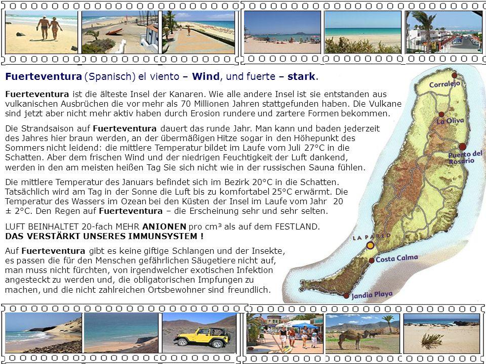 269 km²El Hierro 0,02 km²Roque del Oeste 370 km²La Gomera 0,06 km²Roque del Este 708 km²La Palma 1,48 km²Montaña Clara 846 km²Lanzarote 4,58 km²Lobos 1.560 km²Gran Canaria 10,30 km²Alegranza 1.660 km²Fuerteventura 29,05 km²Graciosa 2.034 km²Teneriffa NebeninselnHauptinseln Fuerteventura in Europakarte Luftlinie von Norden zu Süden:ca.