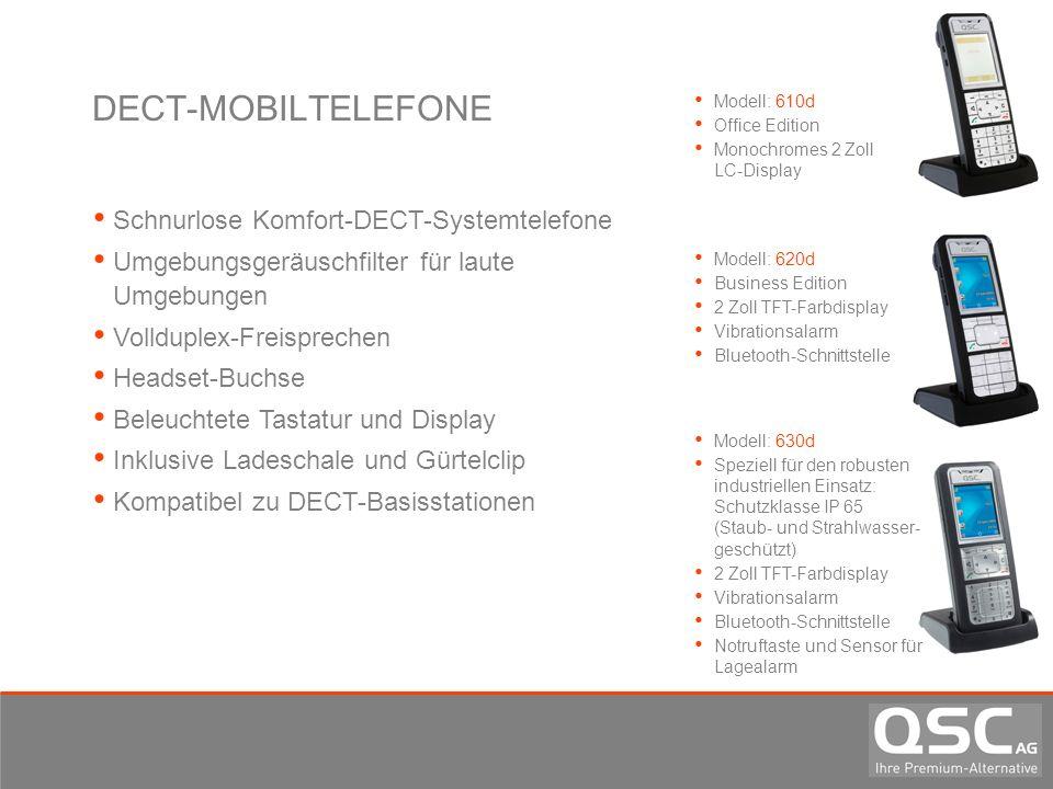 DECT-MOBILTELEFONE Schnurlose Komfort-DECT-Systemtelefone Umgebungsgeräuschfilter für laute Umgebungen Vollduplex-Freisprechen Headset-Buchse Beleucht