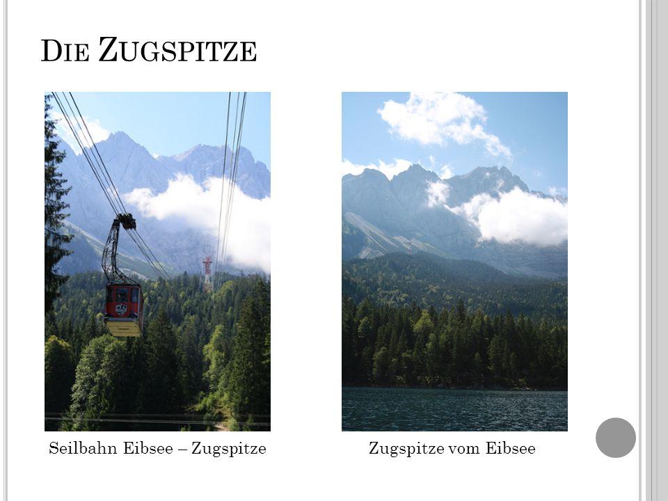D IE Z UGSPITZE Seilbahn Eibsee – ZugspitzeZugspitze vom Eibsee