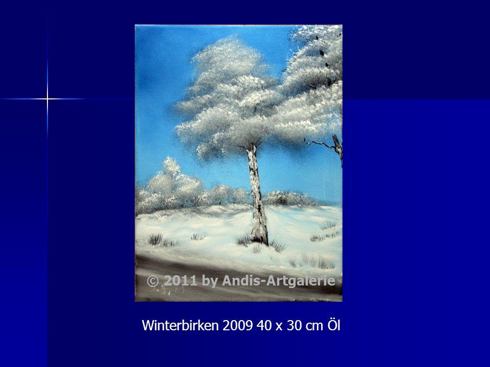 Winterbirken 2009 40 x 30 cm Öl © 2011 by Andis-Artgalerie