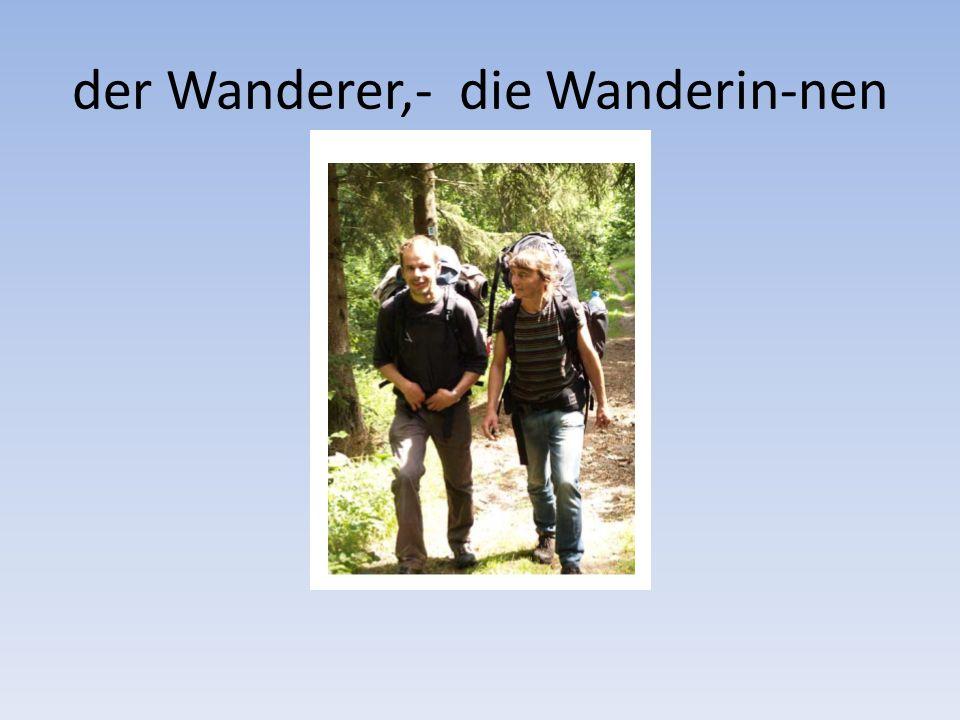 der Wanderer,- die Wanderin-nen