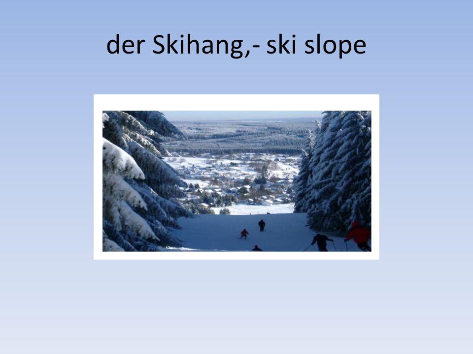 der Skihang,- ski slope
