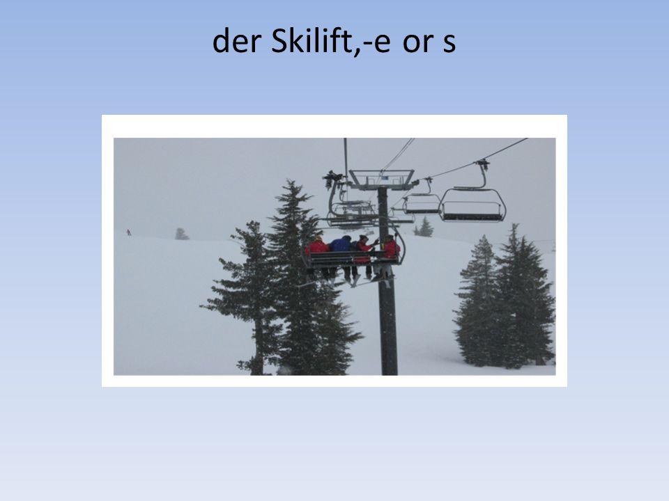 der Skilift,-e or s