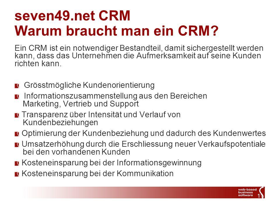 11 seven49.net CRM Warum braucht man ein CRM.