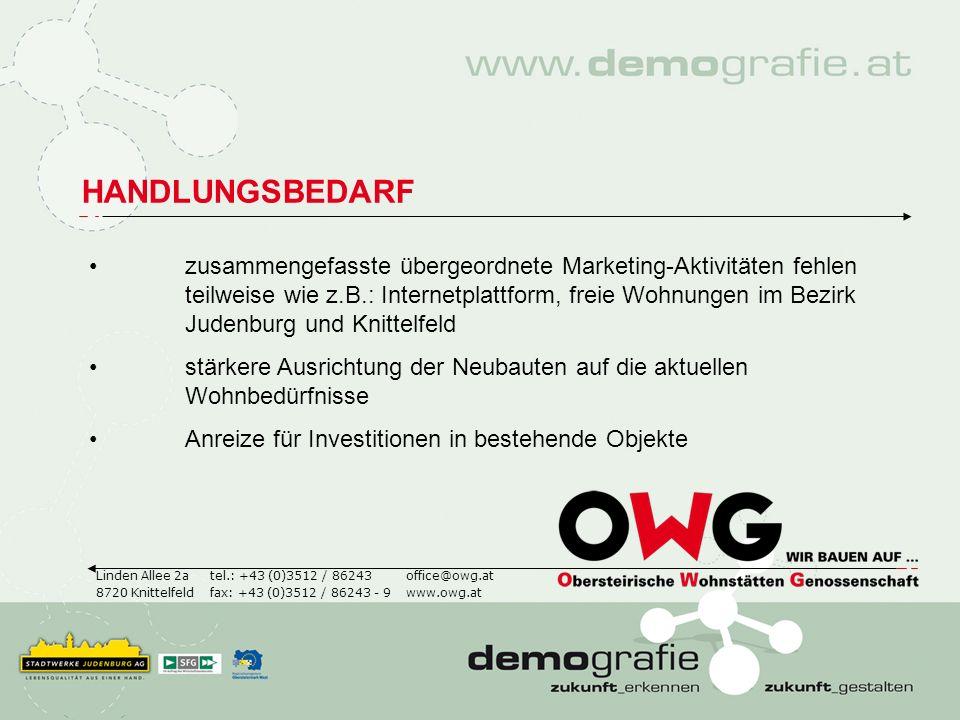HANDLUNGSBEDARF Linden Allee 2a 8720 Knittelfeld office@owg.at www.owg.at tel.: +43 (0)3512 / 86243 fax: +43 (0)3512 / 86243 - 9 zusammengefasste über
