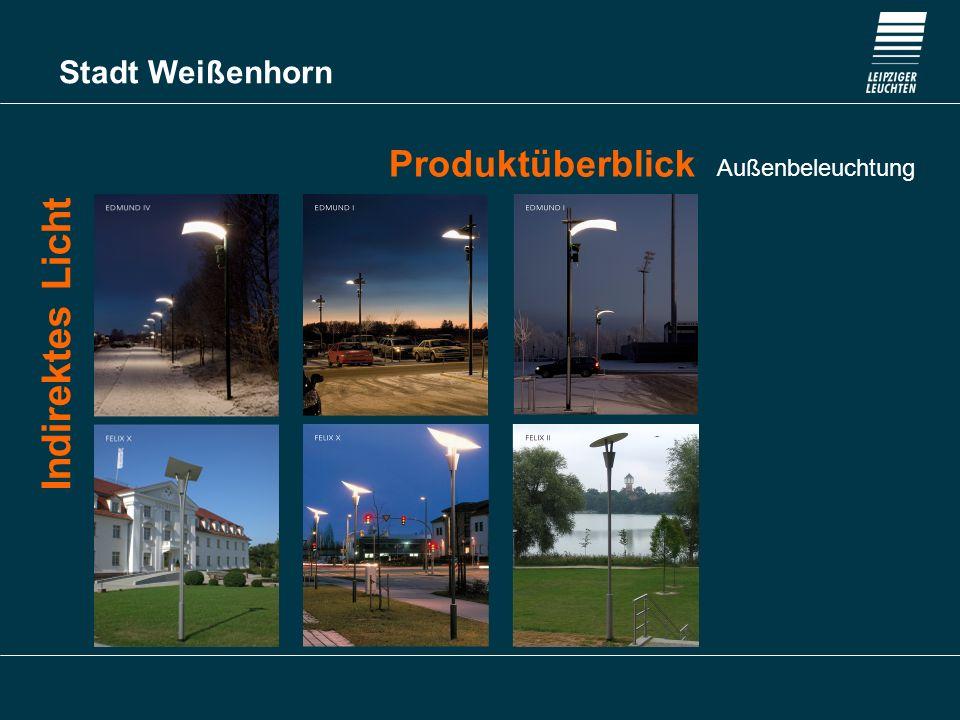 Stadt Weißenhorn Produktüberblick Außenbeleuchtung Dekorative Mastaufsatzleuchten