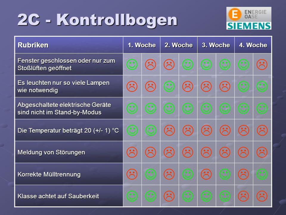 2C - Kontrollbogen Rubriken 1. Woche 2. Woche 3.