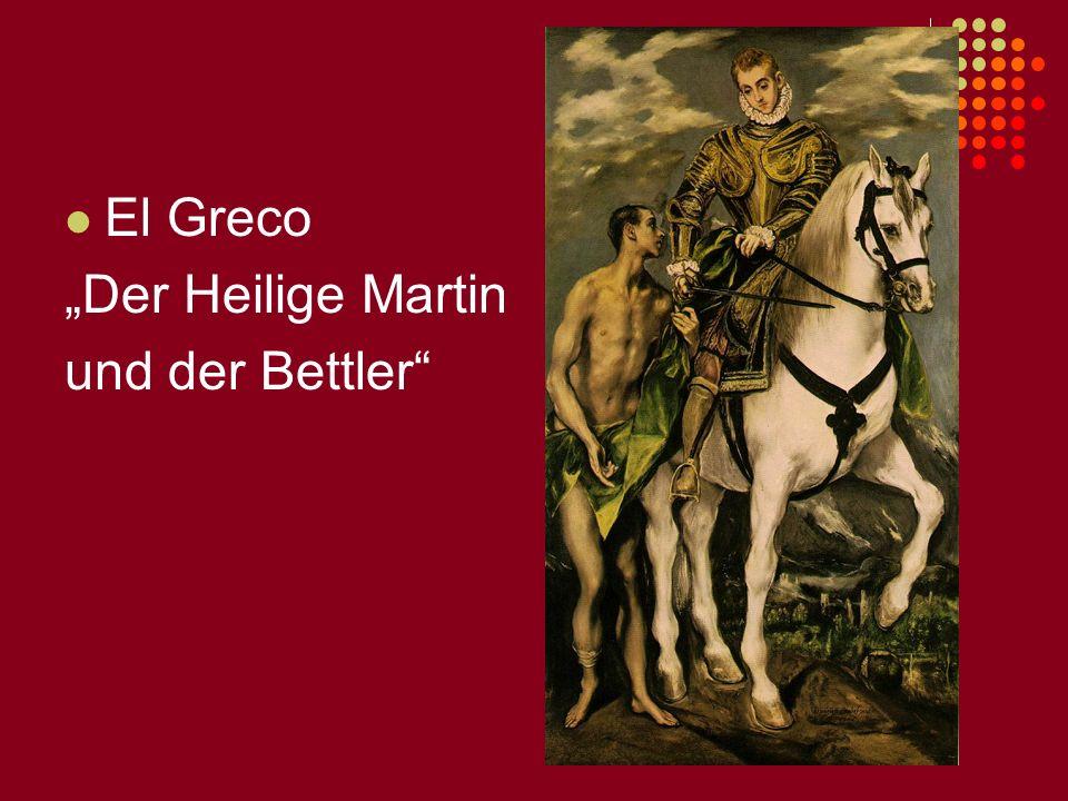 El Greco Der Heilige Martin und der Bettler