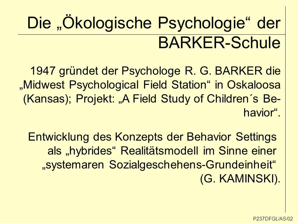Thesen: P237DFGL/AS/03 Die Setting-Theorie eignet sich hervorragend als analytischer Ansatz zur Erforschung des Zusam- menhangs von Sach- und Sozialstrukturen.