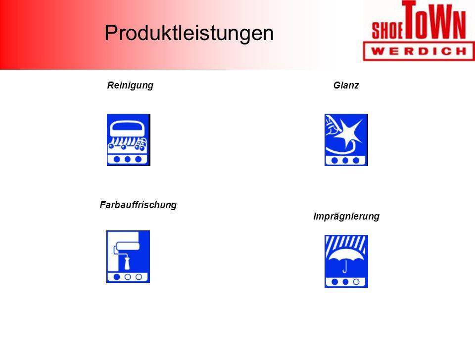 Produktleistungen Glanz Imprägnierung Reinigung Farbauffrischung