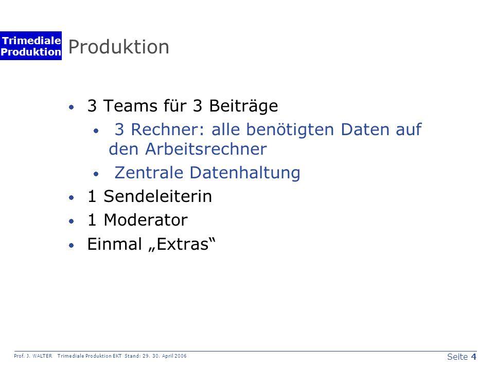 Seite 5 Prof.J. WALTER Trimediale Produktion EKT Stand: 29.