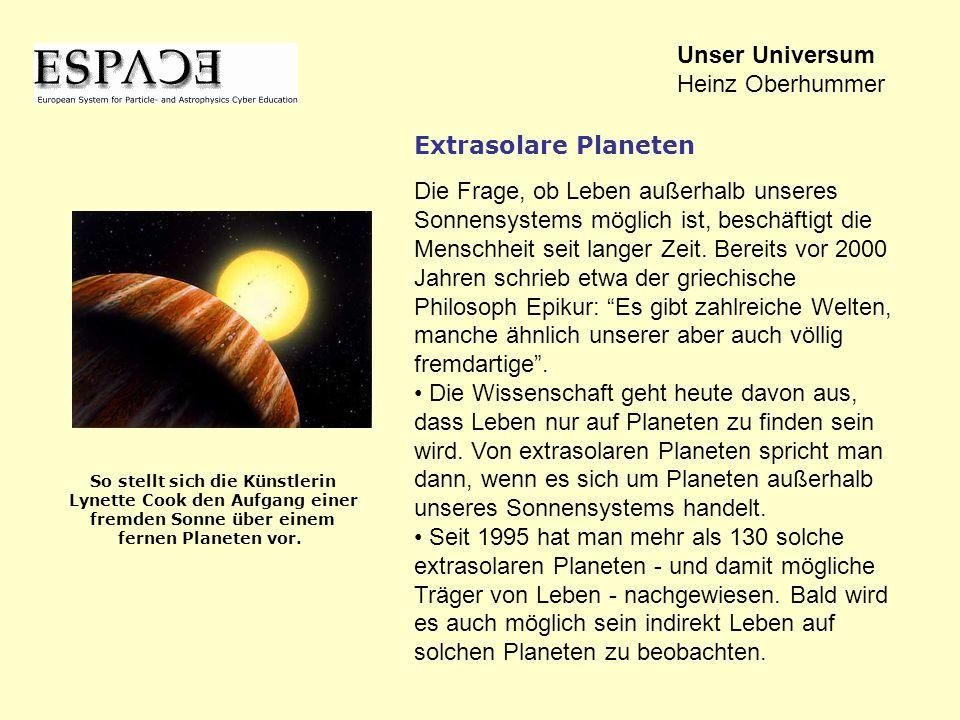 Die Frage, ob Leben außerhalb unseres Sonnensystems möglich ist, beschäftigt die Menschheit seit langer Zeit. Bereits vor 2000 Jahren schrieb etwa der