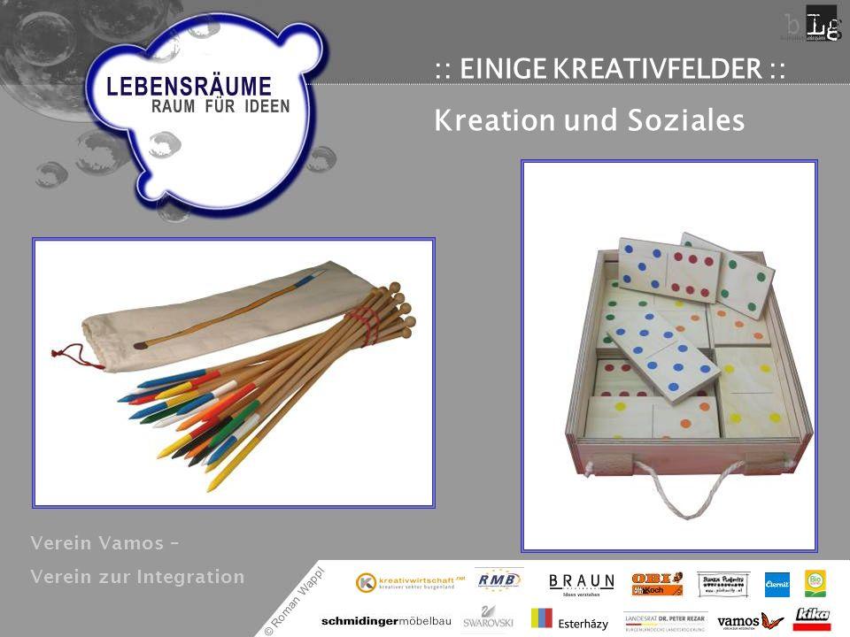 © Roman Wappl :: EINIGE KREATIVFELDER :: Kreation und Soziales Verein Vamos – Verein zur Integration
