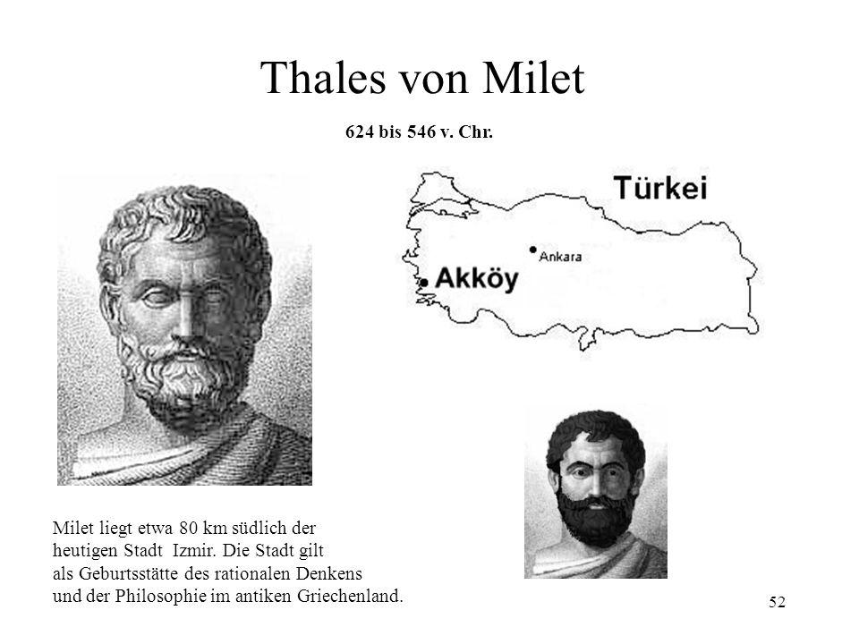 51 Elektrische und magnetische Kräfte BernsteinMagnet Um 600 v. Chr: Der griechische Philosoph und Mathematiker Thales von Milet entdeckt, dass Bernst