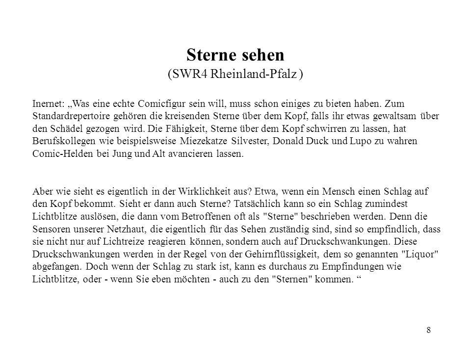 8 Sterne sehen (SWR4 Rheinland-Pfalz ) Inernet: Was eine echte Comicfigur sein will, muss schon einiges zu bieten haben.