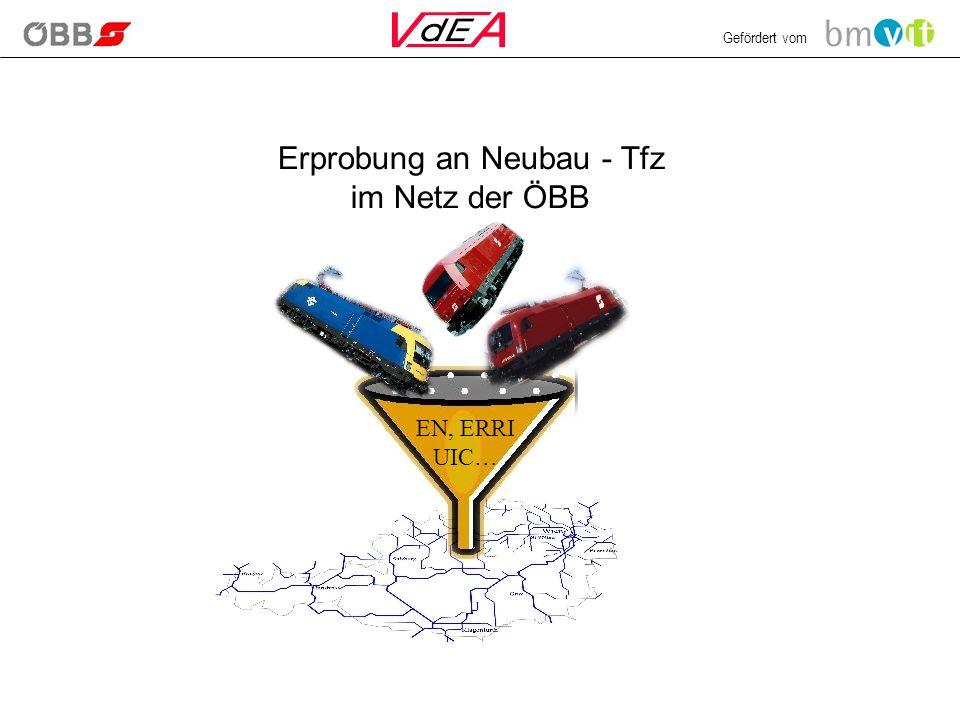 Gefördert vom Erprobung an Neubau - Tfz im Netz der ÖBB EN, ERRI UIC…