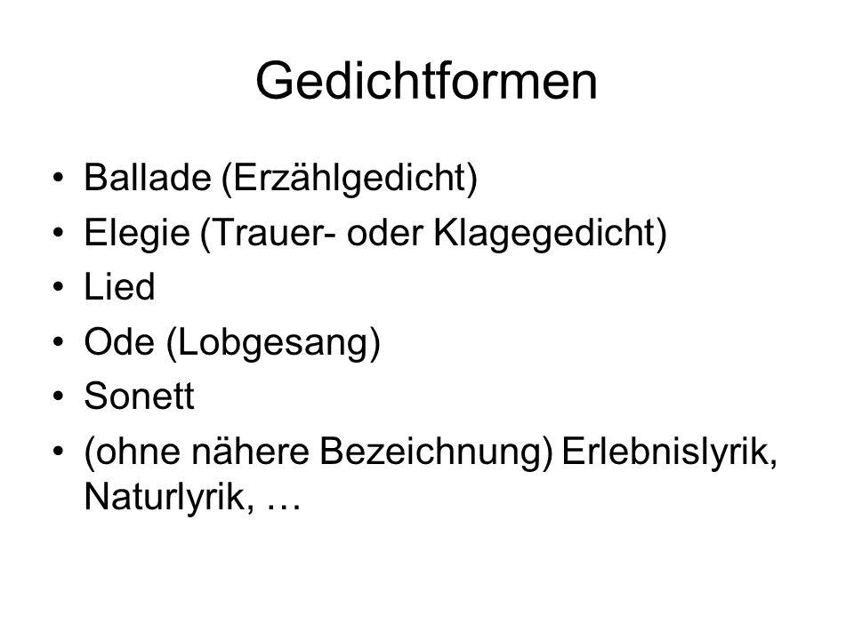 Goethe: Willkommen und Abschied Es schlug mein Herz, geschwind zu Pferde.