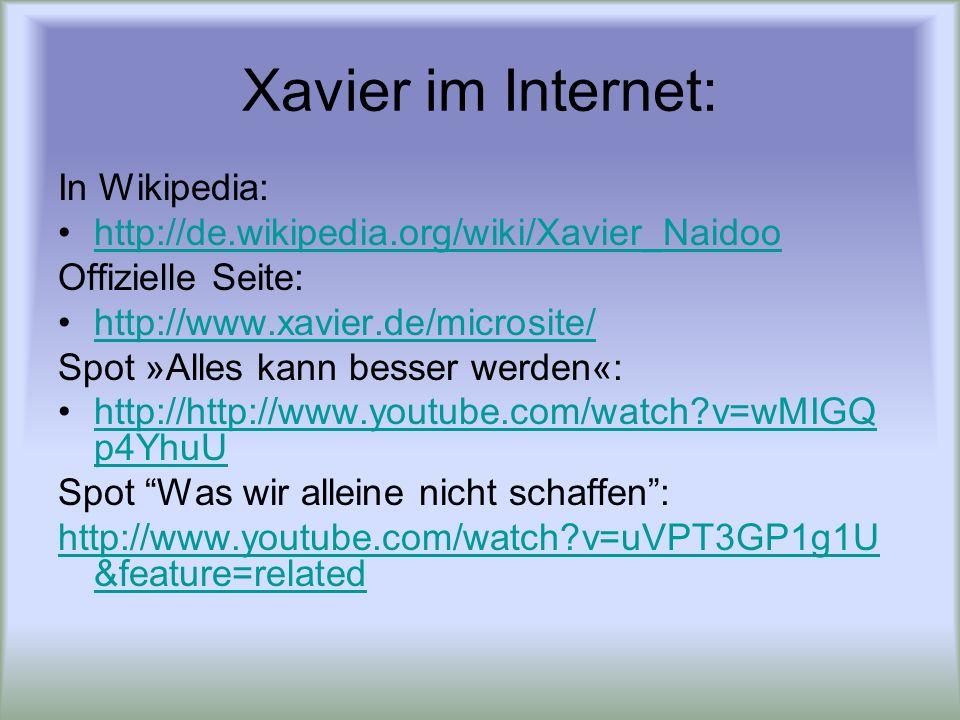 Was wir alleine nicht schaffen Auf http://www.lyricsmode.com/lyrics/x/xavier_naidoo/was_wir_alleine_nicht_schaffen.htmlhttp://www.lyricsmode.com/lyrics/x/xavier_naidoo/was_wir_alleine_nicht_schaffen.html und auf : http://www.leoslyrics.com/listlyrics.php?hid=oIVXG3S%2BFTU%3D ist der Liedtext zu finden:http://www.leoslyrics.com/listlyrics.php?hid=oIVXG3S%2BFTU%3D Während sich andere plagen und nichts passiert sind wir zur rechten Zeit am rechten Ort und alles ist arrangiert ich bin dankbar dafür weil ich jeden Tag mit meinen Brüdern und Schwestern das echte Leben spür Was wir alleine nicht schaffen Das schaffen wir dann zusammen Dazu brauchen wir keinerlei Waffen Unsere Waffe nennt sich unser Verstand Und was wir alleine nicht schaffen Das schaffen wir dann zusammen Nur wir müssen geduldig sein Dann dauert es nicht mehr lang Die anderen können lachen Keiner lacht mehr als wir Was sollen sie auch machen Wir sind Ritter mit rosarotem Visier Ein Leben ohne Euch macht wenig Sinn Kein Leben, kein Geräusch dann wäre ich wie blind Was wir alleine nicht schaffen… Es liegt noch was vor uns, Das Leben liegt vor uns Spürst du die Vorhut aufkommenden Frohmut.